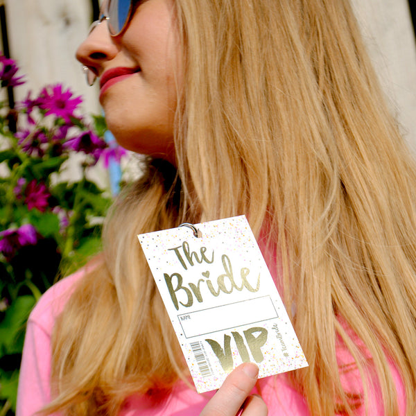 bride to be hen do night vip pass lanyard
