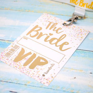 bride to be hen party lanyard