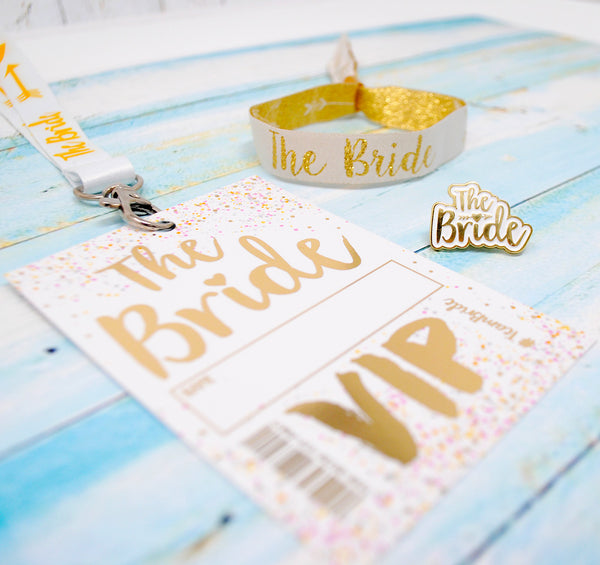 bride to be hen party accessories wristband lanyard badge