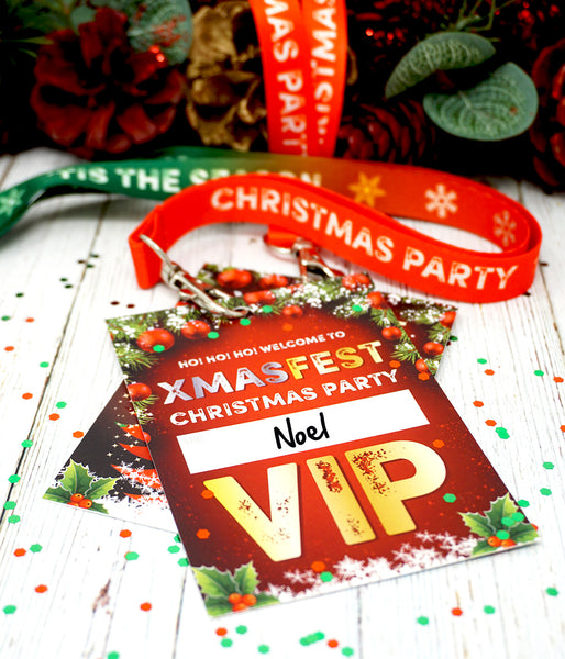 christmas party festival vip lanyards xmas fest xmasfest