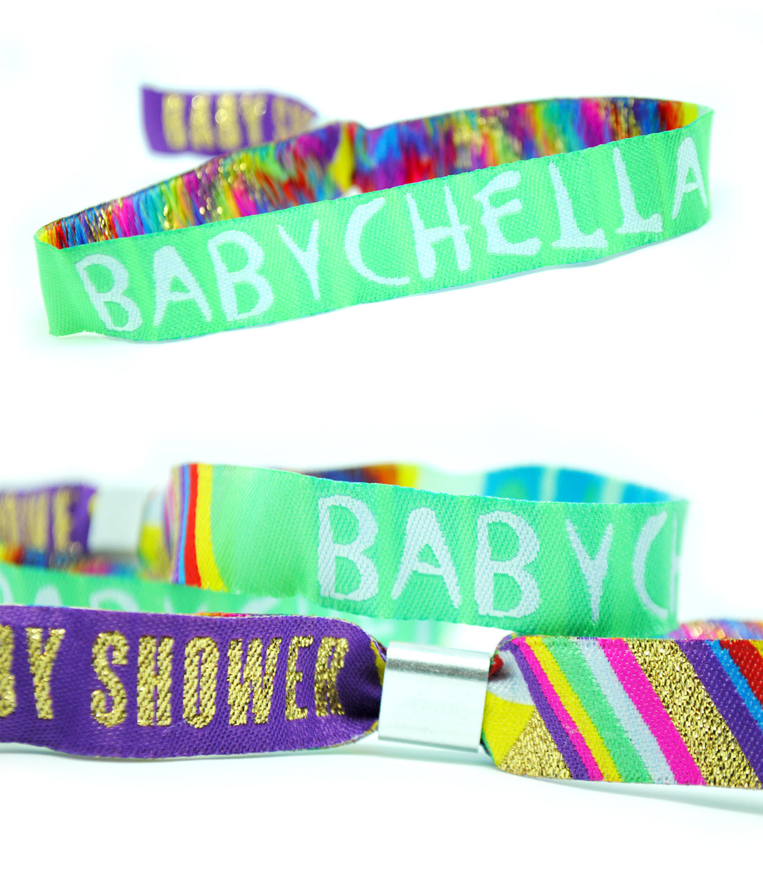 Babychella Baby Shower Festival Party Favour Wristbands