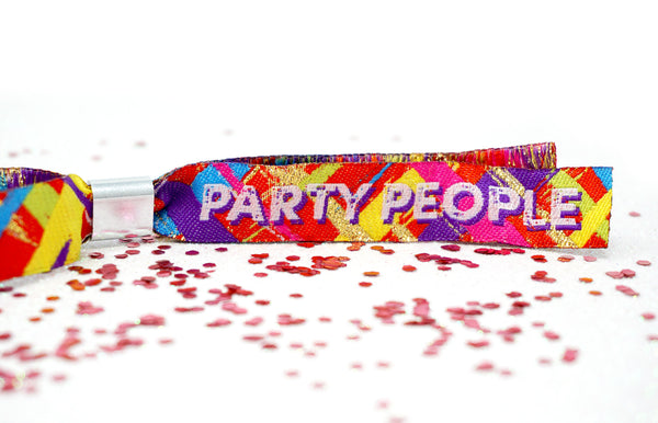 festival party woven fabric wristbands