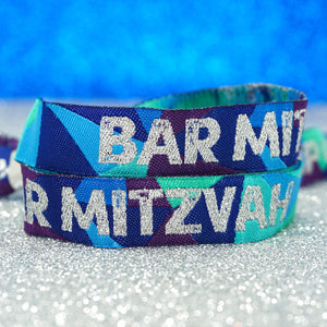 festival theme bar mitzvah party wristbands