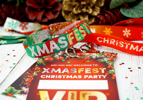 festival theme christmas party at home office accessories lanyards wristbands