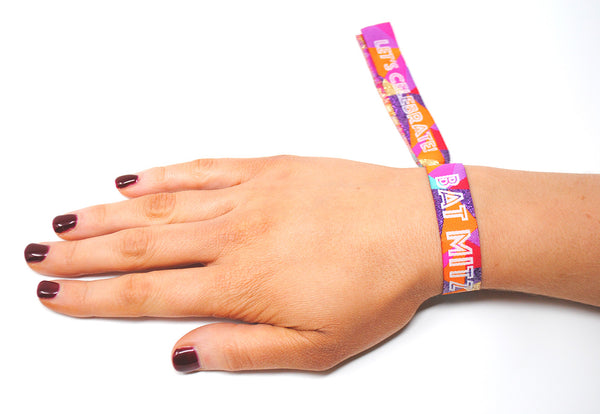 Bat Mitzvah Festival Themed Party Wristbands