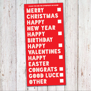 funny value christmas card, tesco poundland christmas cards