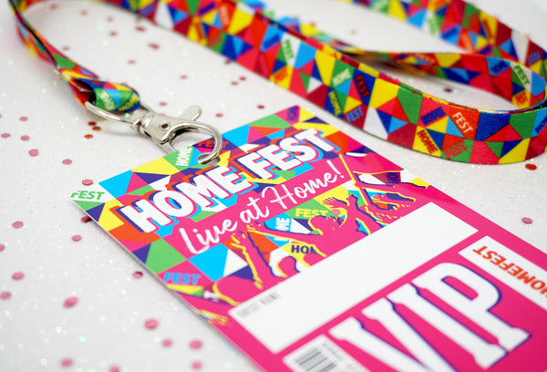 HOMEFEST Festival Themed Party VIP Lanyards