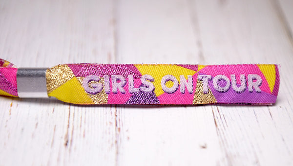 girls on tour festival style party wristbands