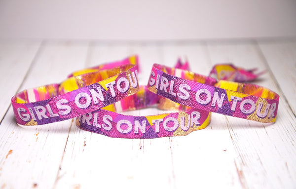 girls on tour festival theme party wristbands