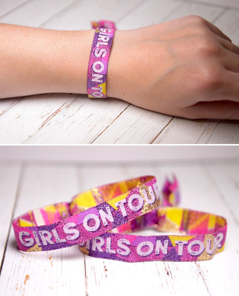girls on tour festival party wristbands
