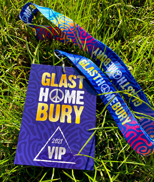 glasthomebury festival at home vip lanyards