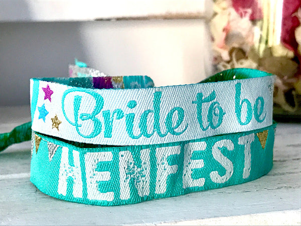 Bride To Be Hen Do Wristband