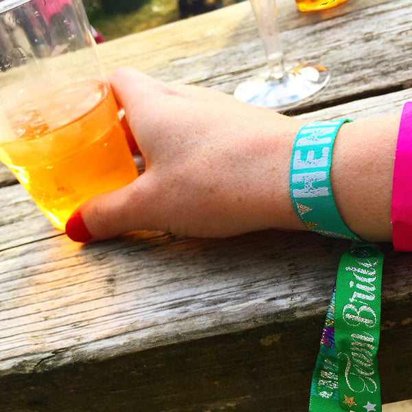 hen festival festival hen do party wristbands bracelet