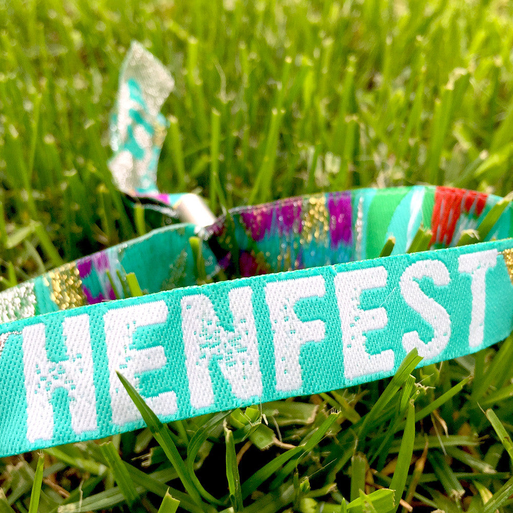 Henfest Hen Party Wristbands - Teal/Green Colour