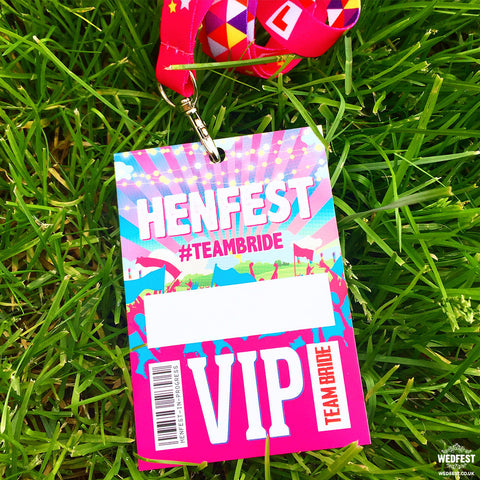 HENFEST Hen Do Vip Pass Lanyards