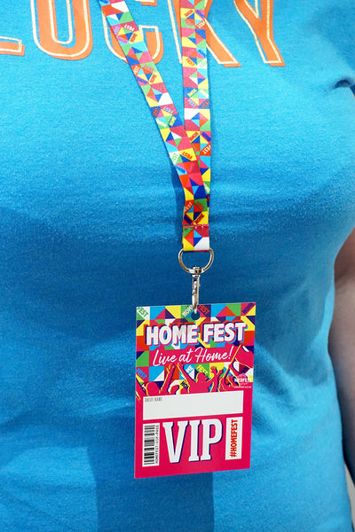 home fest festival house party neck lanyard vip pass