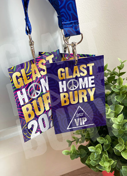 home festival glasthomebury at home vip lanyards