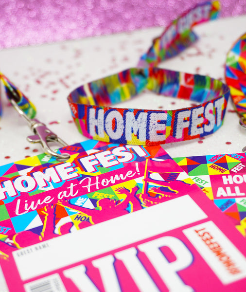 homefest festival lanyards wristbands
