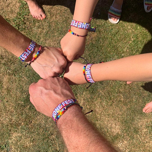 homefest festival lockdown party wristbands