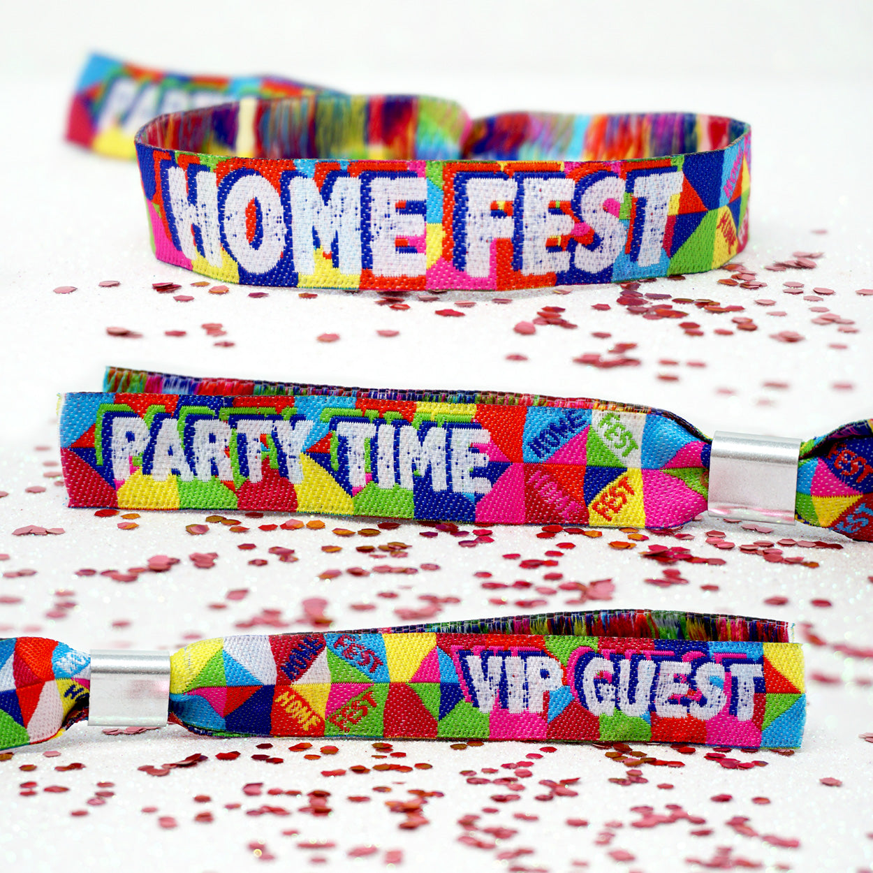 HOMEFEST festival party at home wristbands