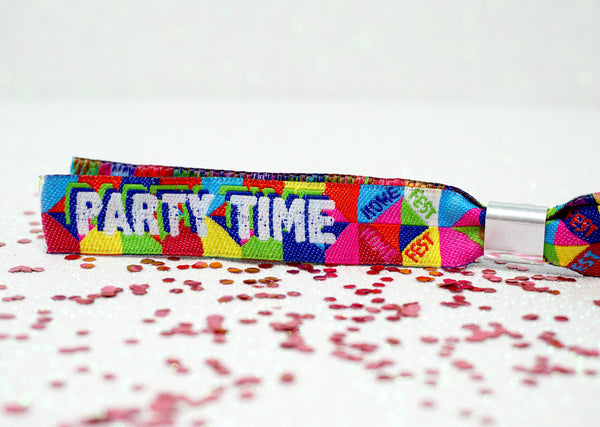 homefest festival themed house party wristbands