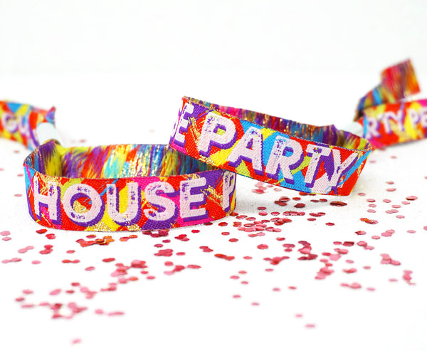 house party festival birthday party wristbands