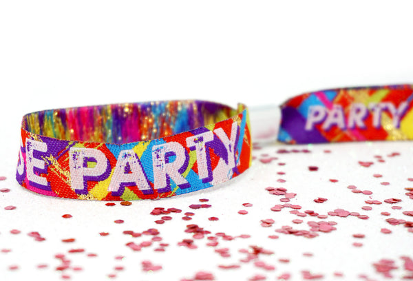 house party festival theme party wristbands