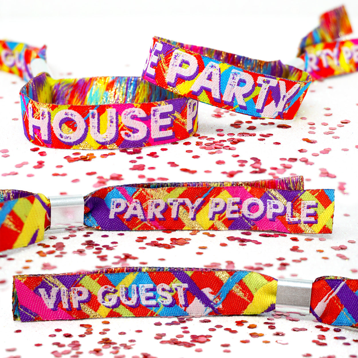 house party stay at home wristbands