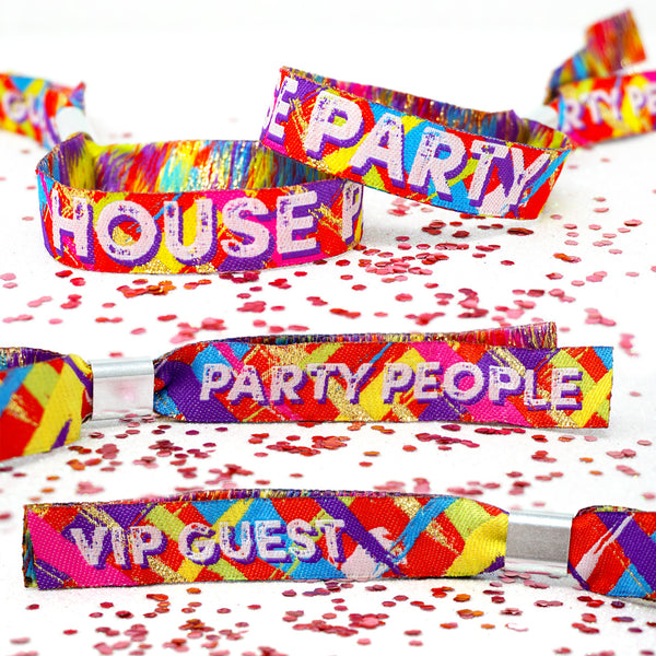 house party festival wristbands