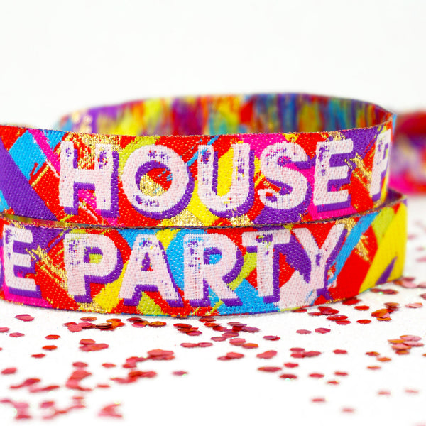 house party home fest festival birthday party wristbands