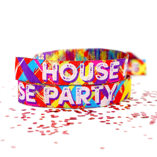 house party home fest festival theme birthday wristbands