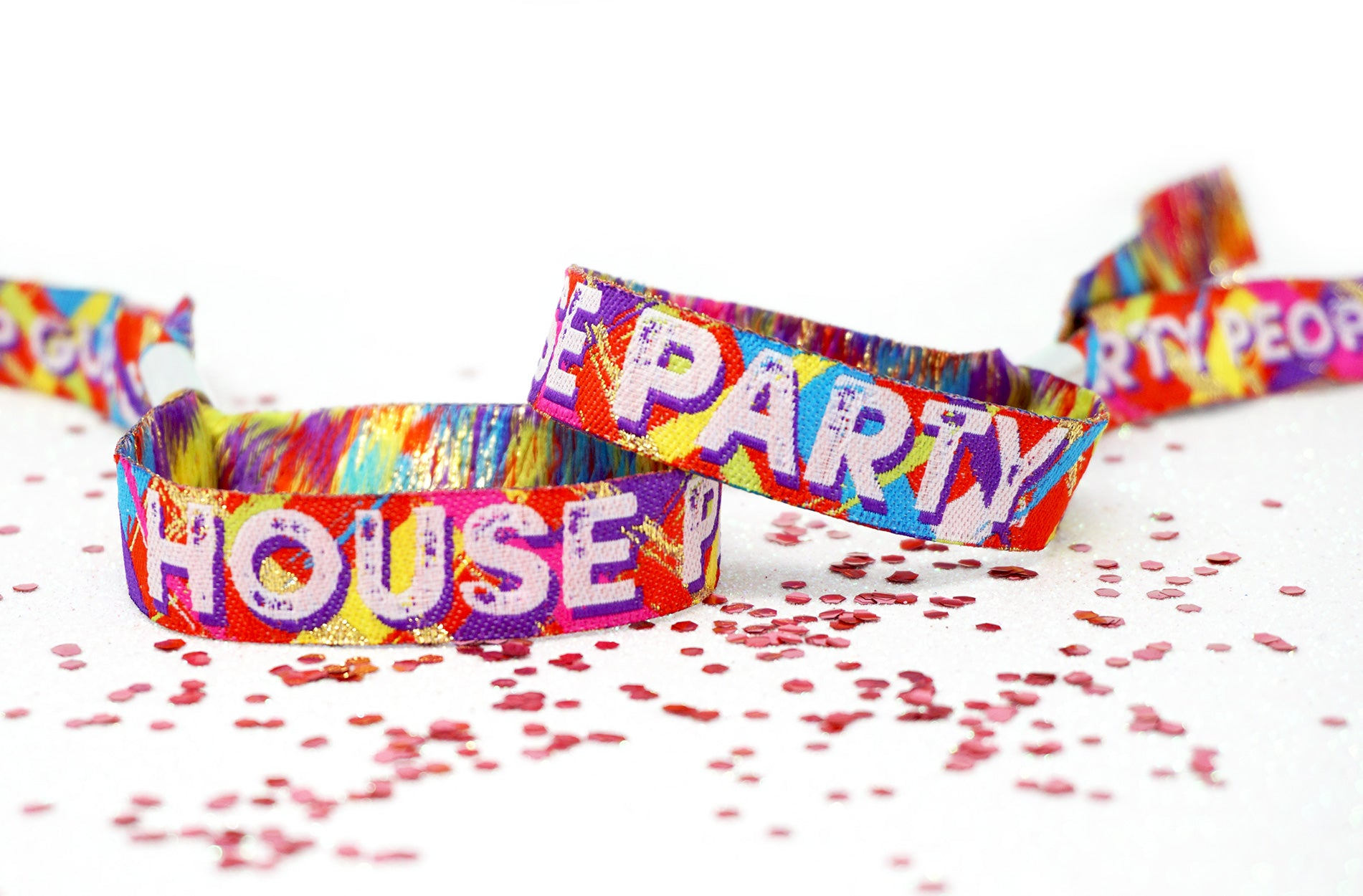 house party festival wristband favours