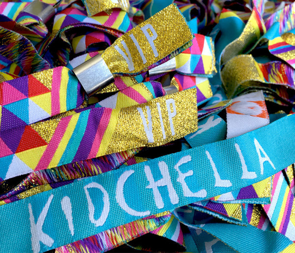 Childrens Kidchella Birthday Party Wristbands