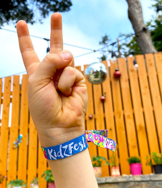 kidzfest festival childrens birthday party wristbands