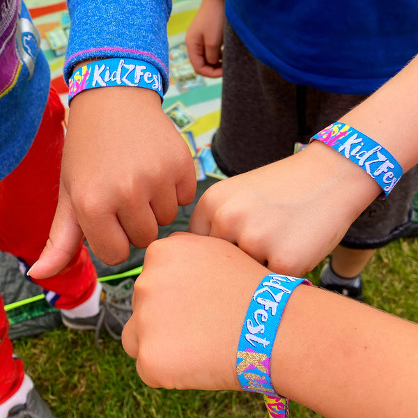 kidzfest kids children festival party wristbands