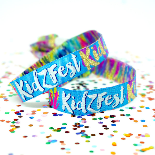 kidzfest kidsfest childrens kids festival party wristbands