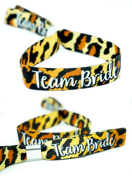 leopard print hen party wristbands