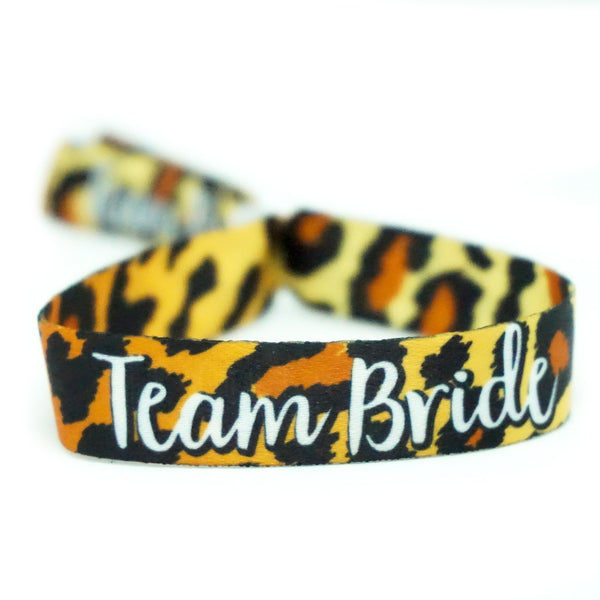 leopard print hen party wristband favors