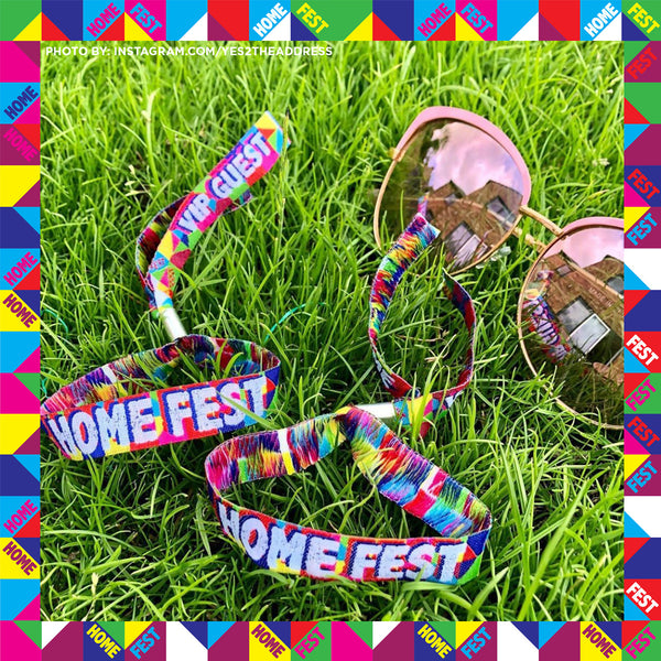 lockdown festival party wristbands homefest