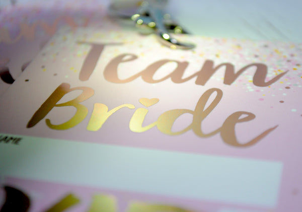 Team Bride 'Rose Gold' VIP Lanyard Pass Hen~Bachelorette Party Favours