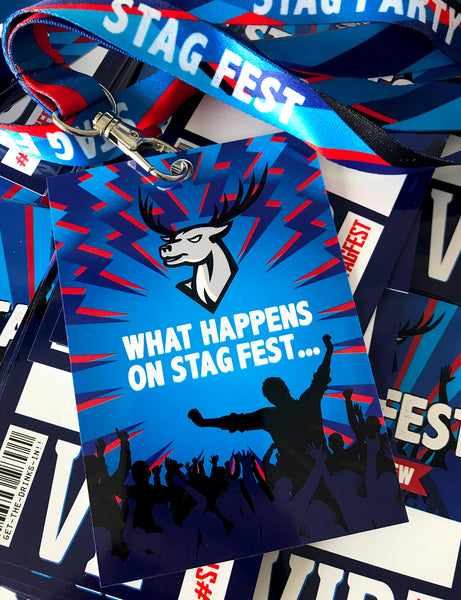 stagfest festival stag do party vip pass lanyard favours
