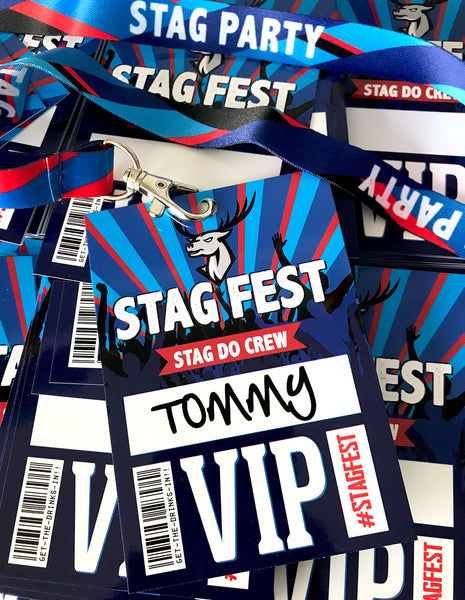 stagfest festival stag do party vip pass lanyards
