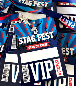 stag do party vip lanyards accessories favour stagfest