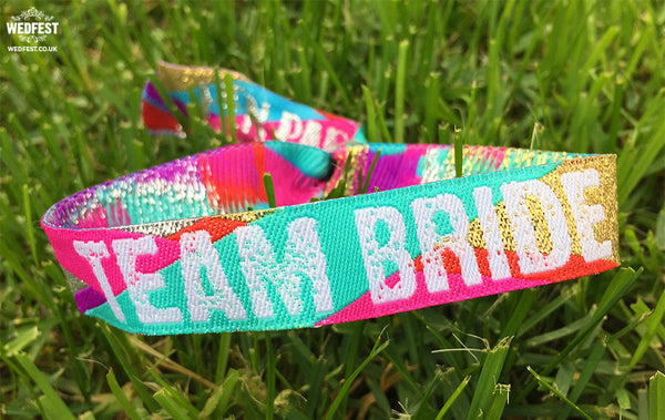 team bride bride tribe hen party wristband