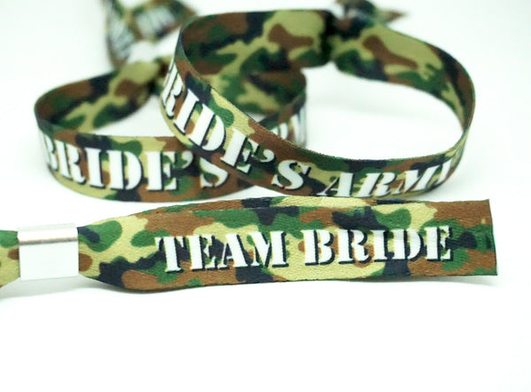 army theme hen party night wristbands bracelets accessories