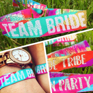 Team Bride - Multi Coloured - Bride Tribe Hen Party Wristbands