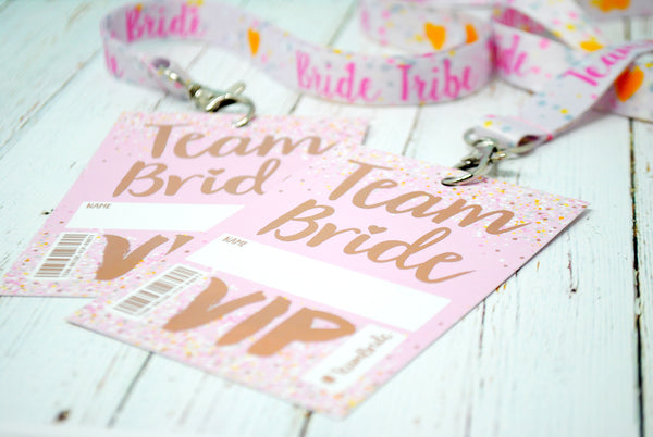 team bride hen rose gold accessories lanyards