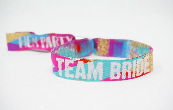 team bride henfest festival hen party wristbands