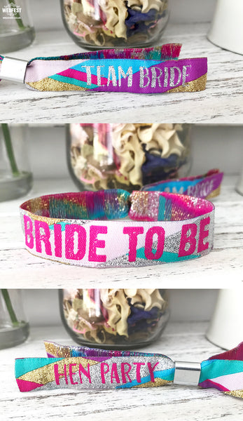 team bride to be hen party bracelets wristbands hens do