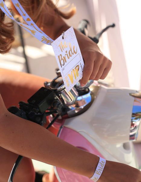 the bride festival hen party vip lanyards